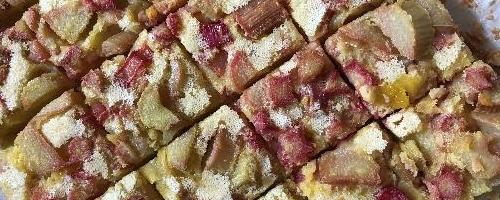 Rhubarb Custard Squares