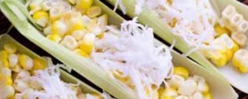Corn with Shredded Coconut - Kow Poad klook ข้าวโพดคลุก