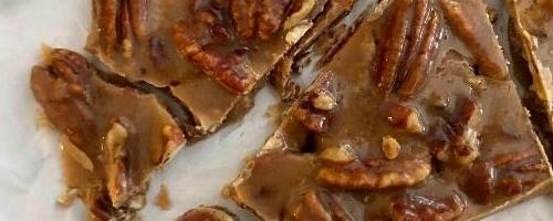 Low Carb Bacon Pecan Caramel Bark