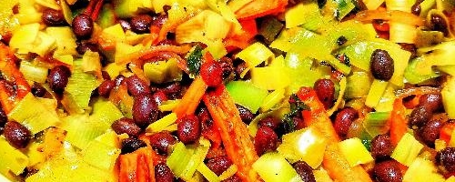 Black Bean & Leek Salad