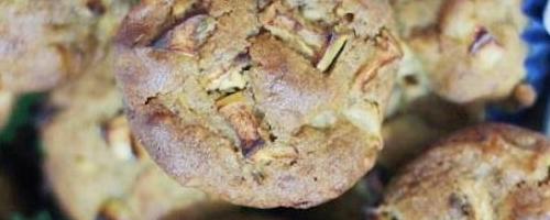 Apple Banana Walnut Muffins