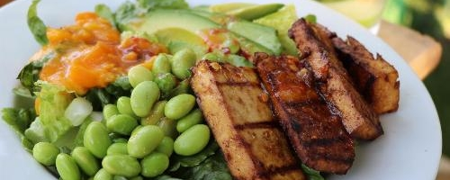 Never Boring Grilled Tofu Salad With Miso Dressing