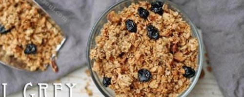 Earl Grey Blueberry Granola