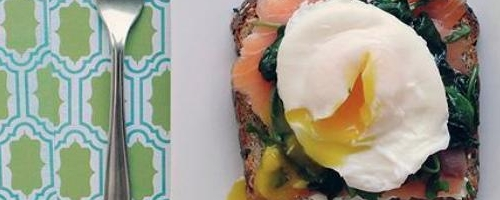 Salmon-spinach Eggs
