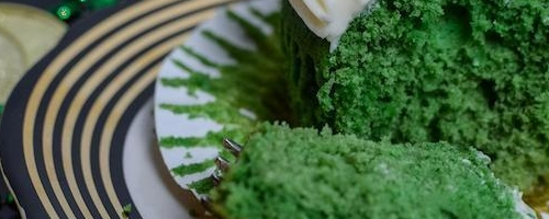 Green Velvet Cupcakes With Bailey's Cream Cheese Frosting