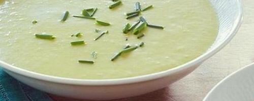 Creamy Potato-leek Soup (vegan)