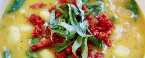 Slow Cooker Butternut Squash & Gnocchi Soup