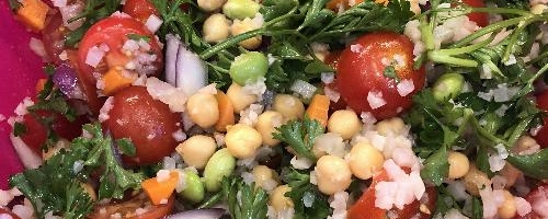 Balsamic Cauli Rice & Bean Salad