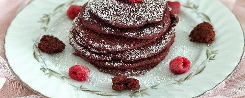Vegan Red Velvet Pancakes For Valentine's Day