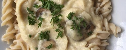 Creamy Cauliflower Pasta Sauce With Mushrooms