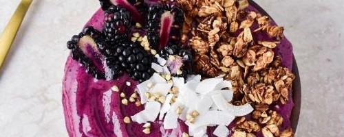 Blackberry Acai Bowl W/peanut Butter Granola