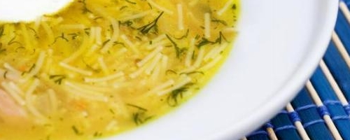 Lemon & Dill Chicken Soup with Orzo