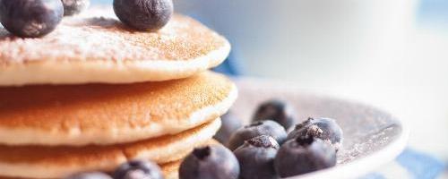 Coconut Flour Blueberry Pancakes