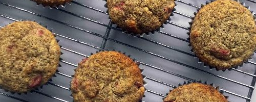Low Carb Lemon Cranberry Muffins