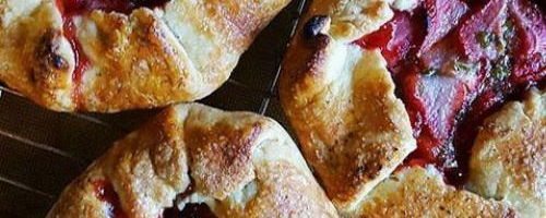 Individual Strawberry, Basil, And Black Pepper Crostatas With A Cornmeal Crust