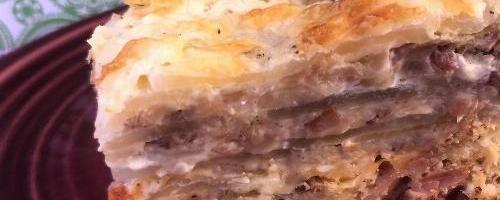 Low Carb Beef And Scalloped Daikon Radish Casserole