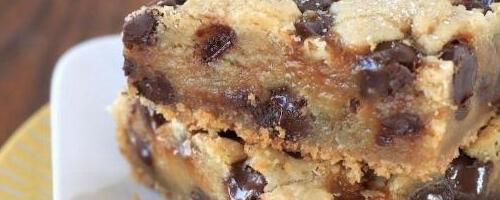 Chocolate Chip Cookie Bars  {vegan & Gluten Free}
