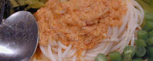 Noodles with Fish Curry Sauce Recipe