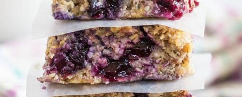 Blueberry And Oat Breakfast Bars