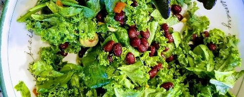 Black Bean & Greens Salad W/ Wrap Option!