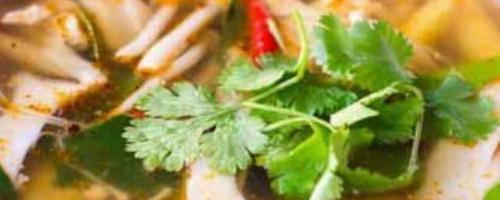 Vegetarian Tom Yum Hed - Tom Yum Hed ต้มยำเห็ดมังสวิรัติ