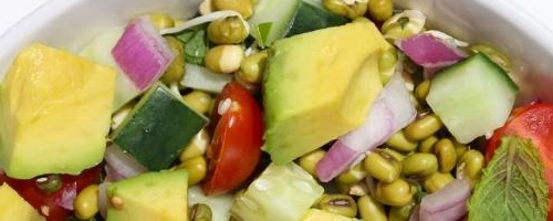 Indian Sprouted Mung Bean Salad