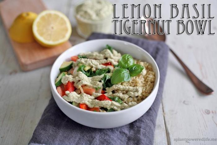 Lemon Basil Creamy Tigernut Bowl