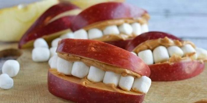Apple Peanut Butter Smiles