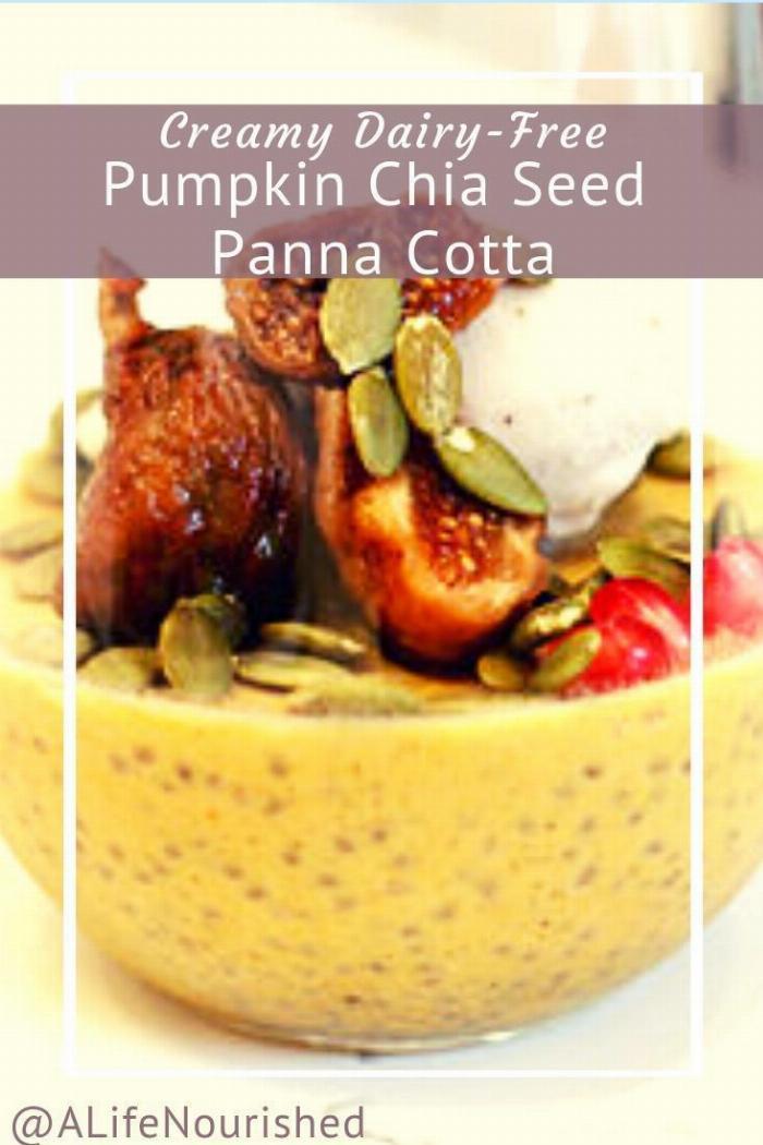 Pumpkin Chia Seed Panna Cotta