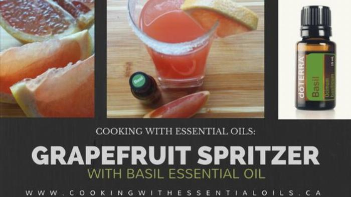 Grapefruit Spritzer With Basil Essential Oil