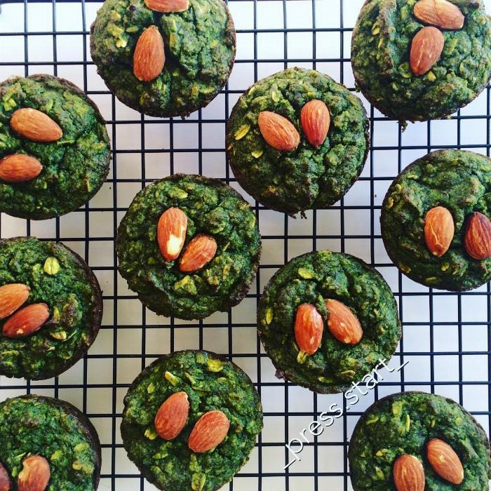 Kale Banana Muffins