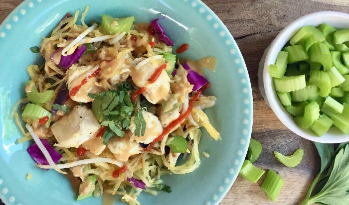 Skinny Spaghetti Squash Pad Thai