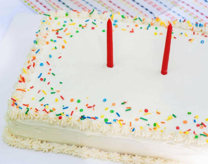 Confetti Sheet Cake