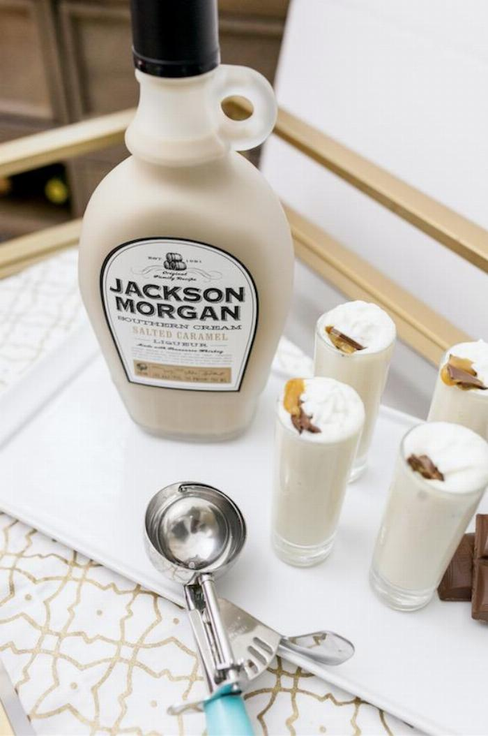 Spiked Mini Salted Caramel Milkshakes