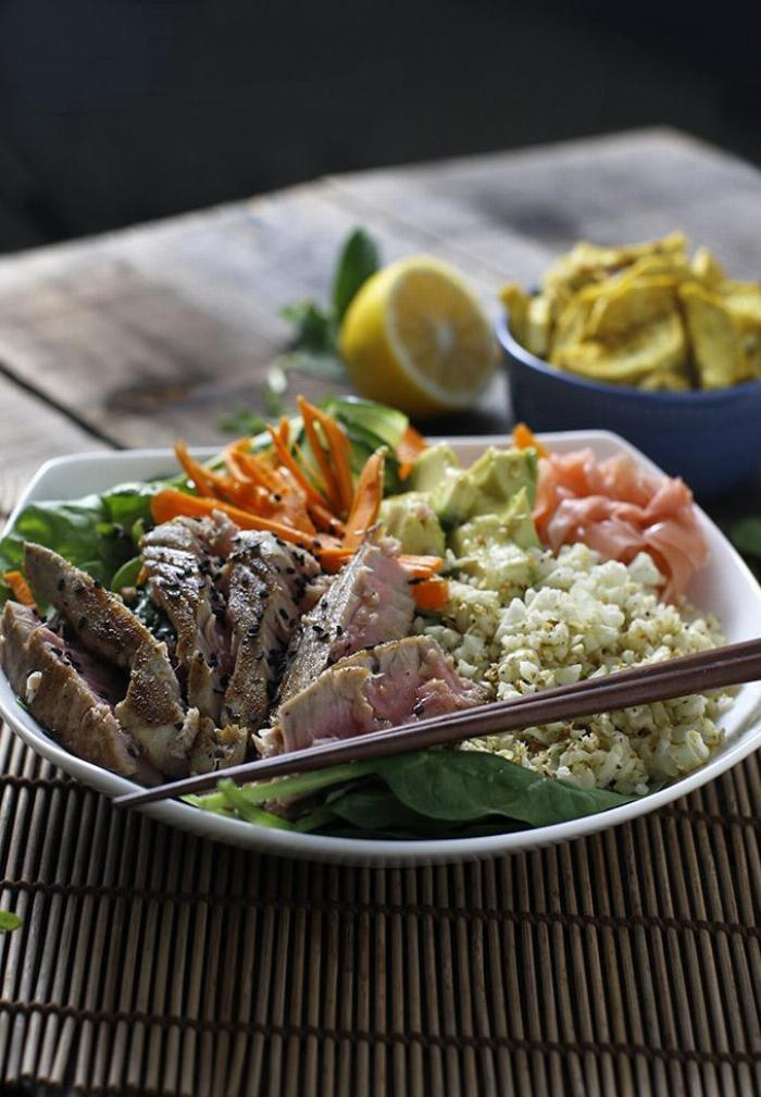 Warm Sushi Salad With Citrus Dressing