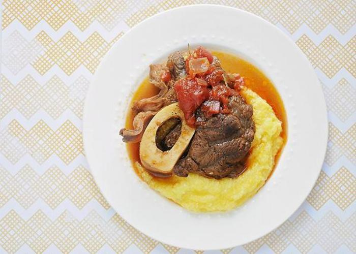 Root Beer Braised Beef Shank With Polenta