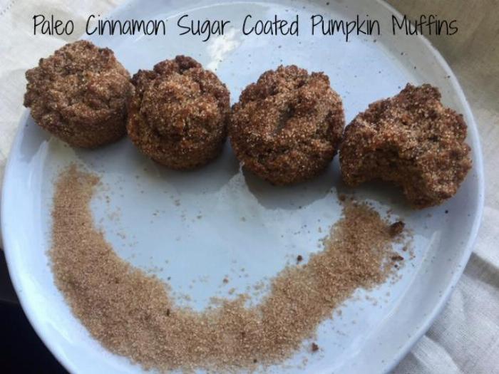 Paleo Cinnamon Sugar Coated Pumpkin Muffins