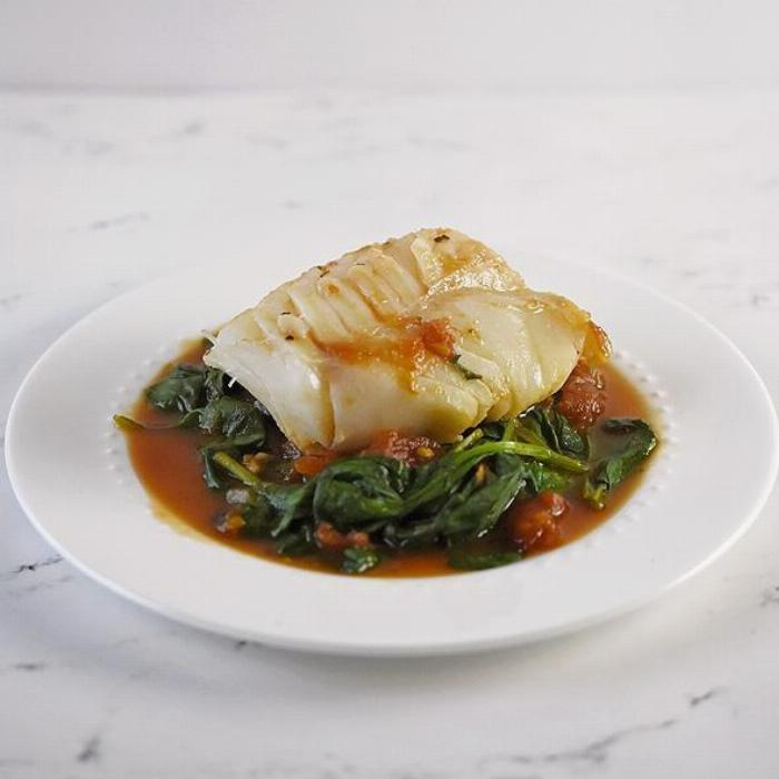 Tomato Braised Cod Fillets