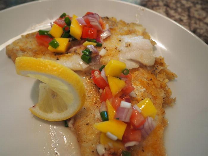 Pan Fried Fish With Mango Salsa