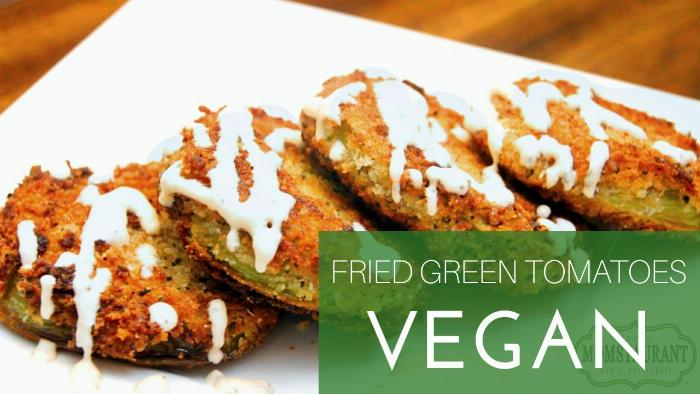 Fried Green Tomatoes (vegan)