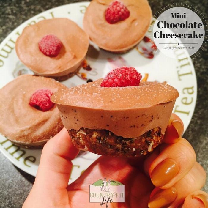 Mini Chocolate Cheesecakes (gluten & Dairy Free)