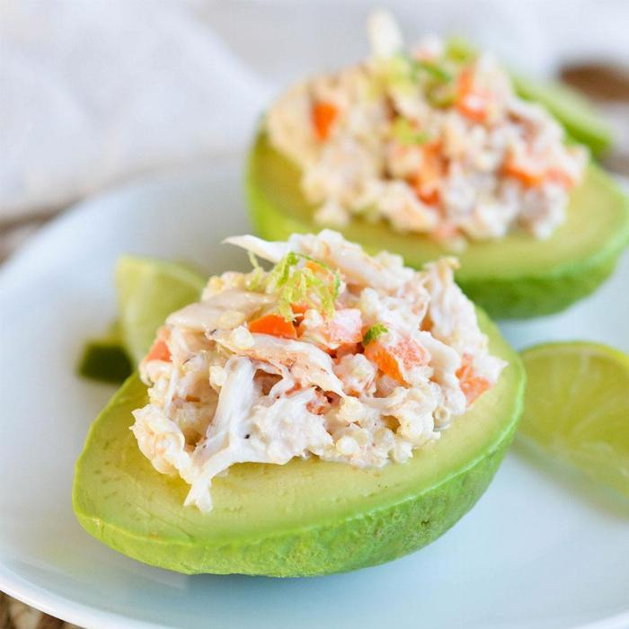 Spicy Crab Stuffed Avocado