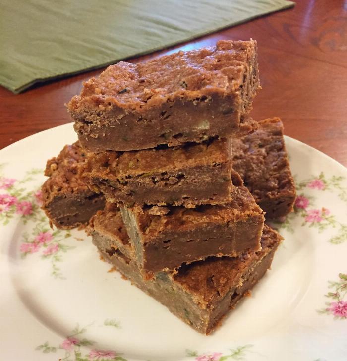 Chocolate Zucchini Cake Bars