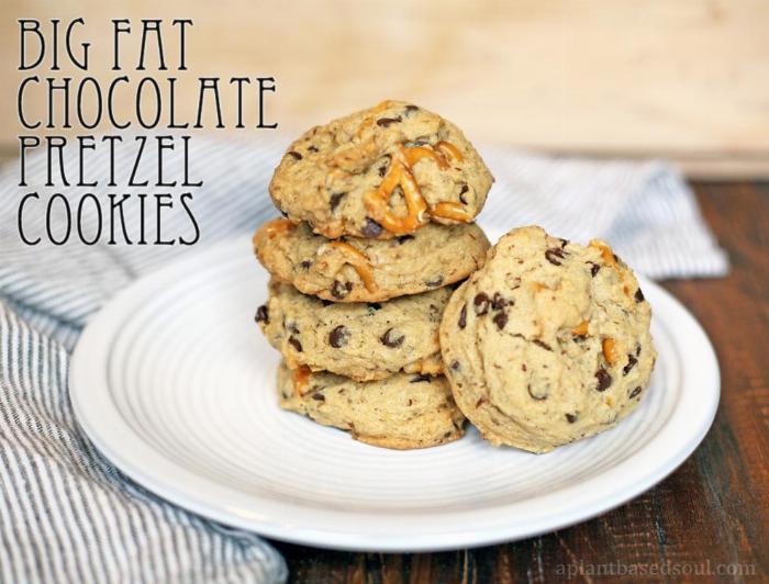 My Big Fat Chocolate Chip Pretzel Cookie