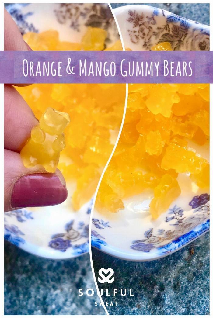 Homemade Orange Mango Gummy Bears