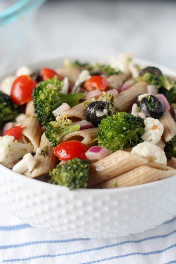 Healthier Greek Pasta Salad