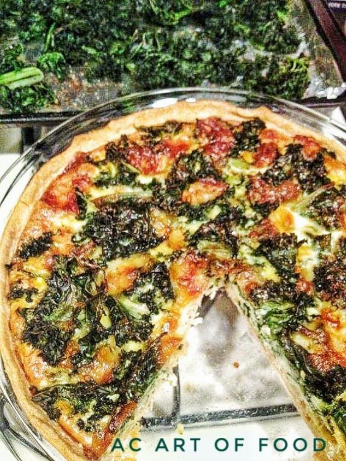 Super Food Kale & Shrimp Quiche