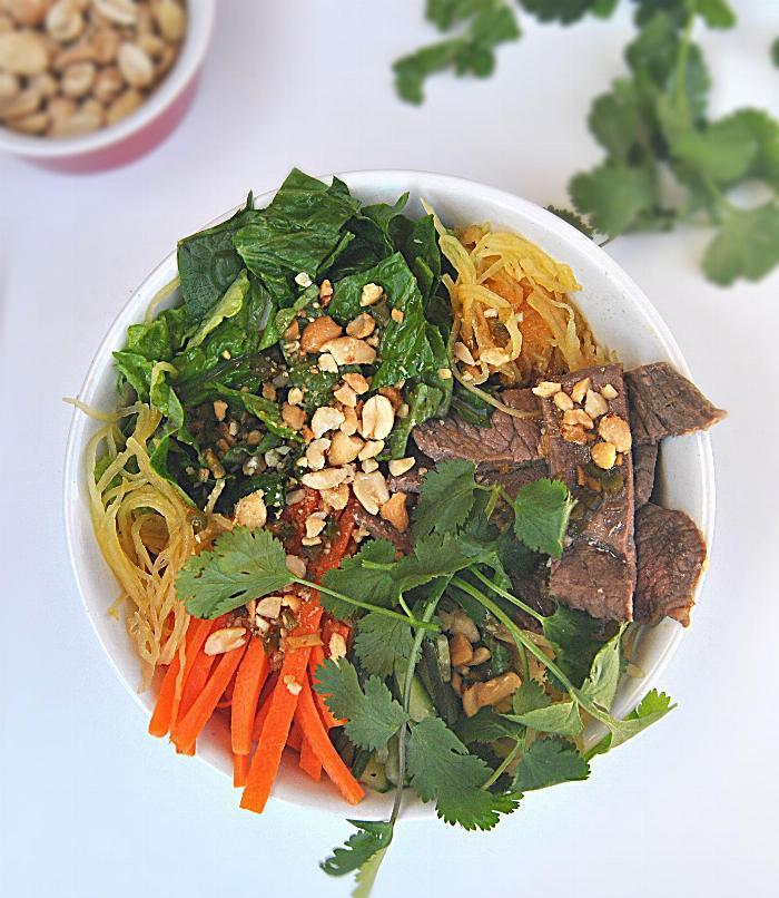 Spaghetti Squash Vietnamese Bowl