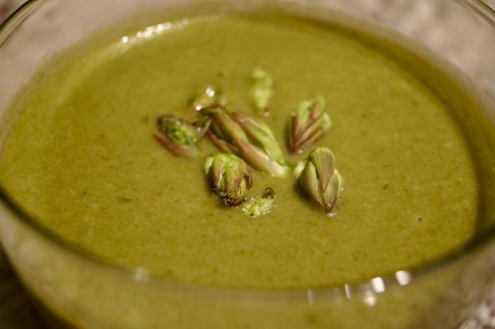 Asparagus End Soup