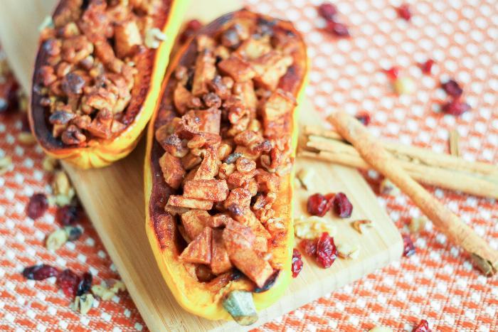 Roasted Apple Walnut Calabaza Squash